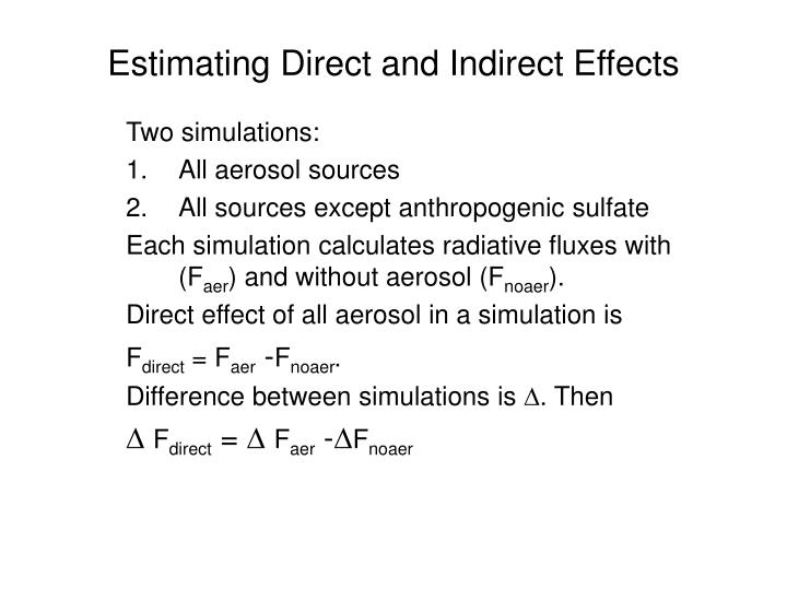 Estimating Direct and Indirect Effects