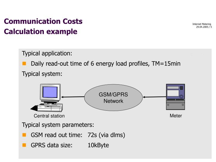 Communication Costs