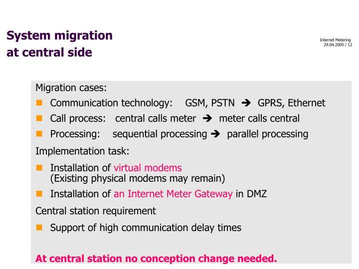 System migration