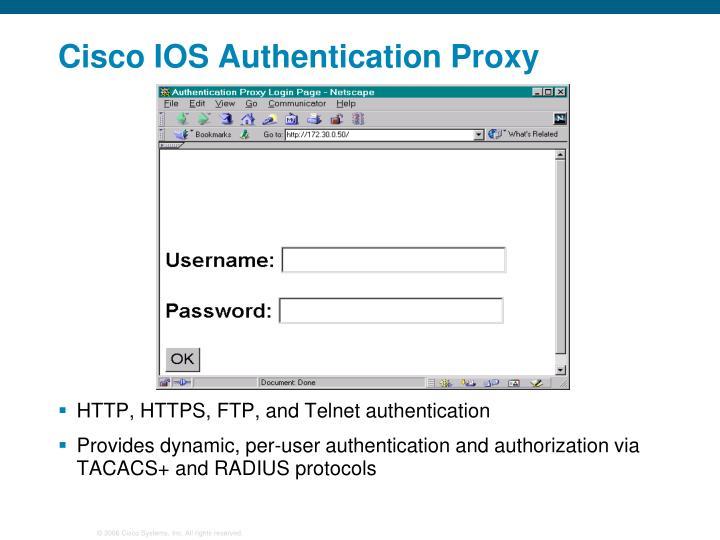 Cisco IOS Authentication Proxy