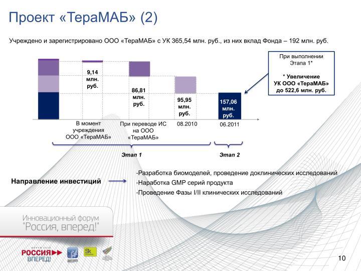 Проект «ТераМАБ» (2)