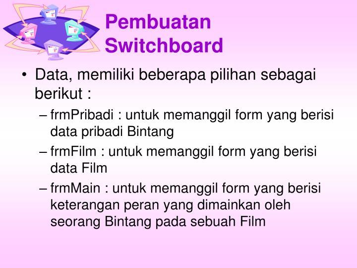 Pembuatan Switchboard
