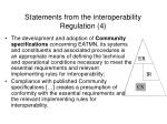 statements from the interoperability regulation 4