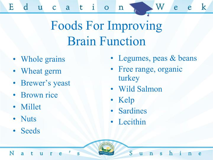 Foods For Improving
