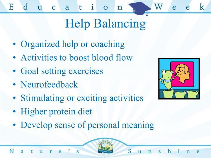 Help Balancing