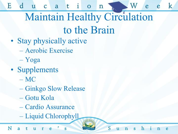 Maintain Healthy Circulation