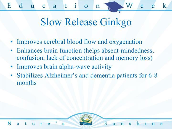 Slow Release Ginkgo