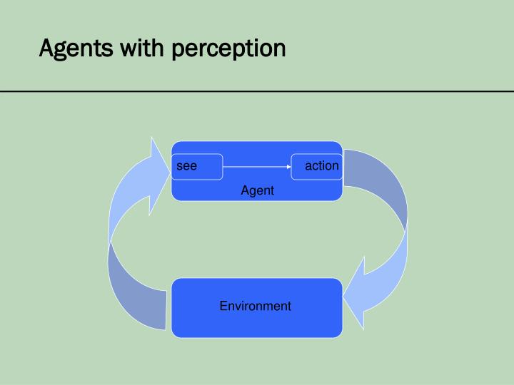 Agents with perception