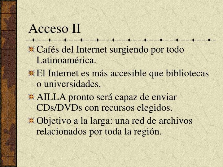 Acceso II