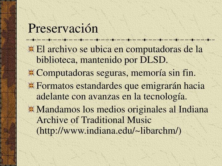 Preservaci