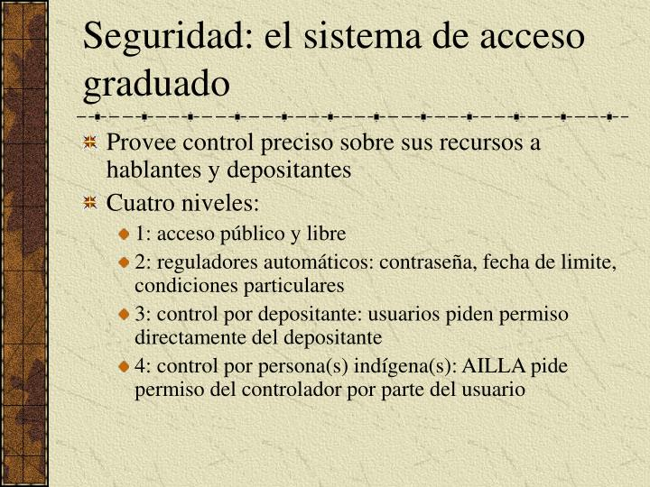Seguridad: el sistema de acceso graduado