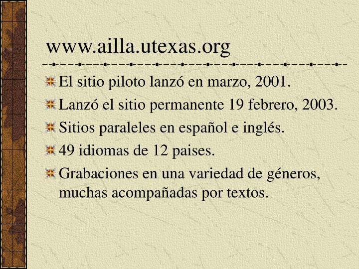 www.ailla.utexas.org