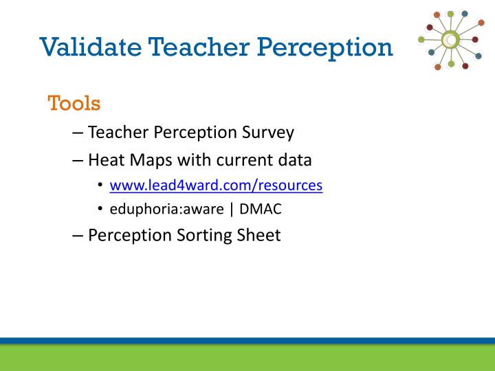 Validate Teacher Perception
