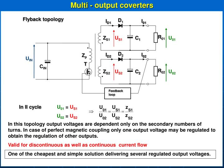 Multi - output coverters