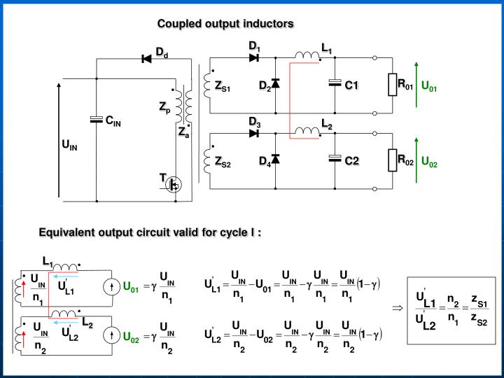 Coupled output inductors