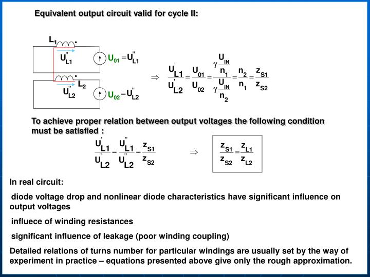 Equivalent output circuit valid for cycle II: