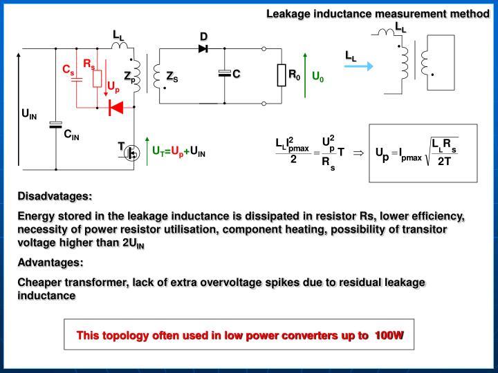 Leakage inductance measurement method