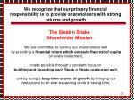 the steak n shake shareholder mission