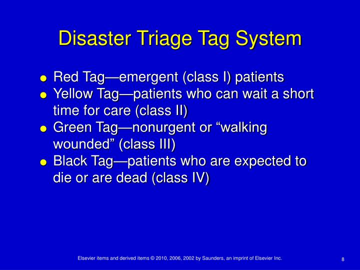Disaster Triage Tag System