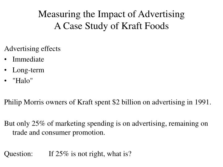 kraft foods case study Kraft foods canada: targeting the millennials case study  access to case studies expires six months  in 2014, kraft foods canada was working on an action plan.