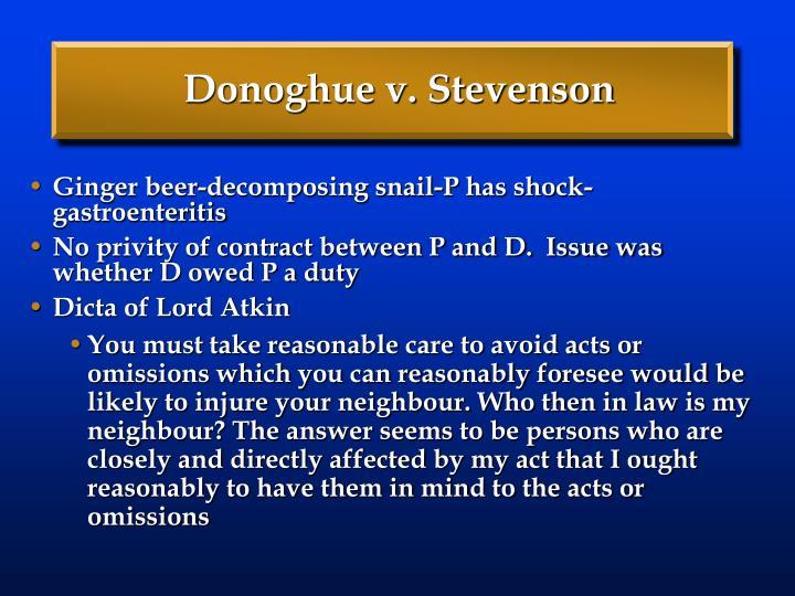 Donoghue v. Stevenson