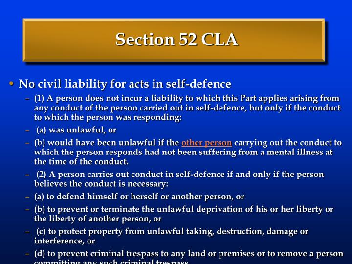 Section 52 CLA
