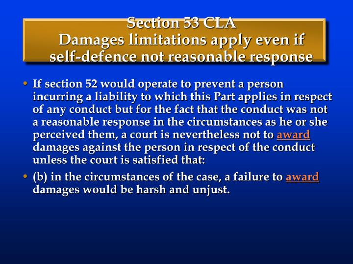 Section 53 CLA