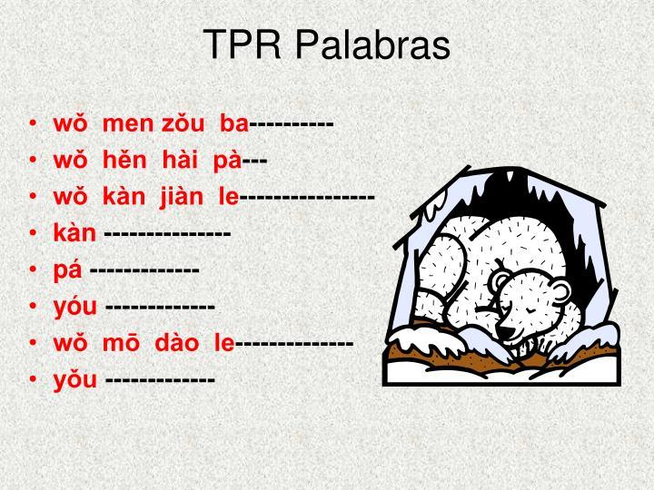 TPR Palabras