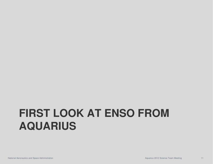 First Look at ENSO from Aquarius