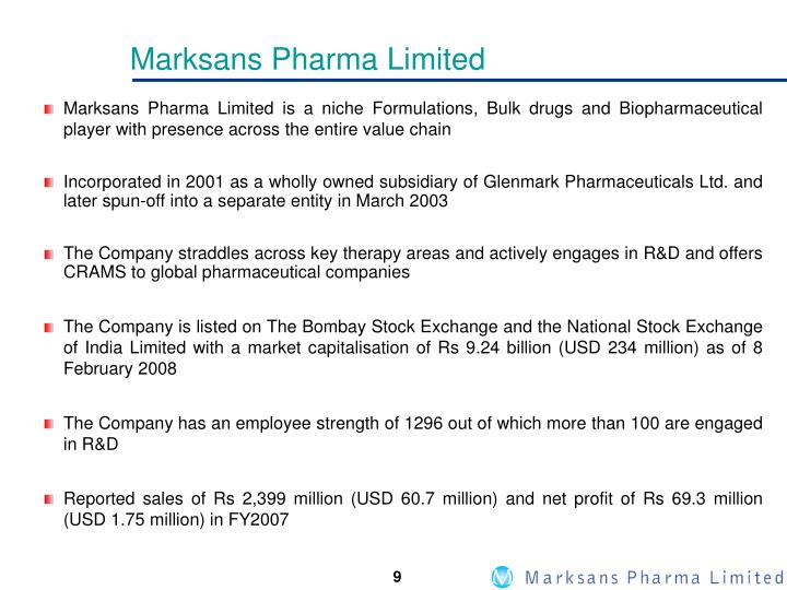 Marksans Pharma Limited