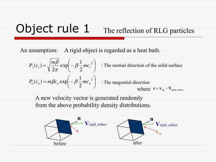 Object rule 1