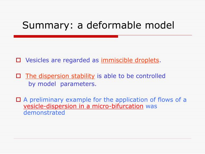 Summary: a deformable model