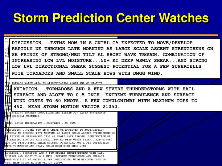 Storm Prediction Center Watches
