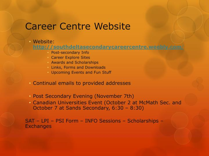 Career Centre Website