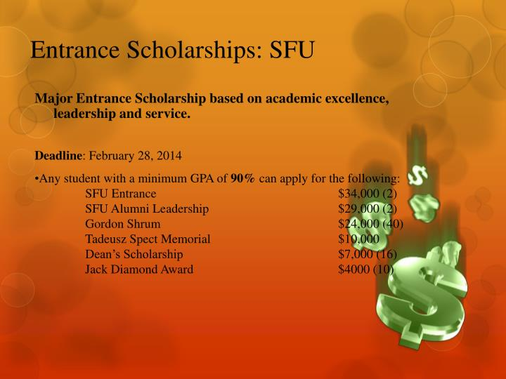 Entrance Scholarships: SFU