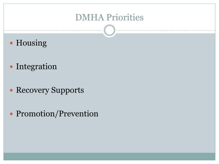 DMHA Priorities