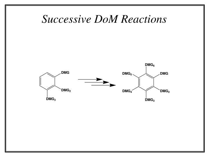Successive DoM Reactions