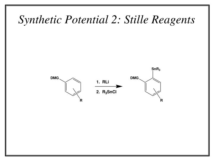 Synthetic Potential 2: Stille Reagents