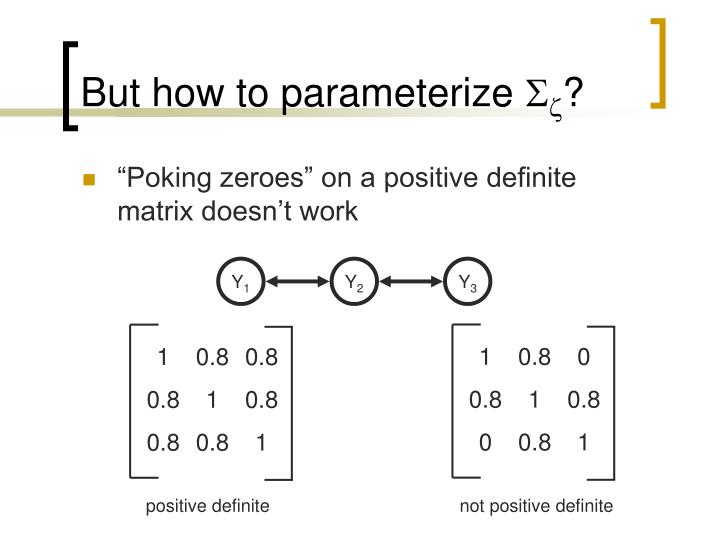 But how to parameterize