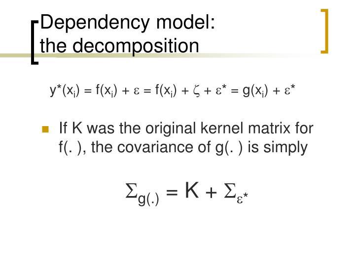 Dependency model: