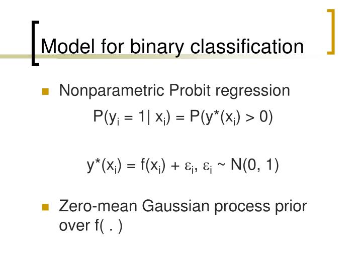 Model for binary classification
