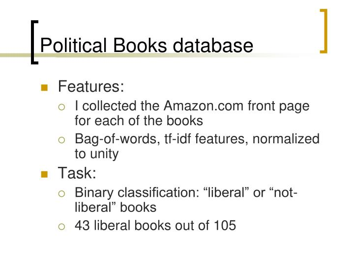 Political Books database
