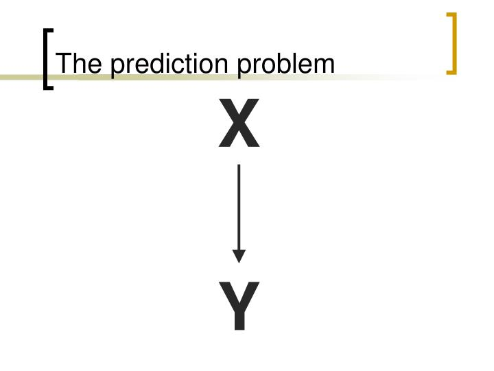 The prediction problem