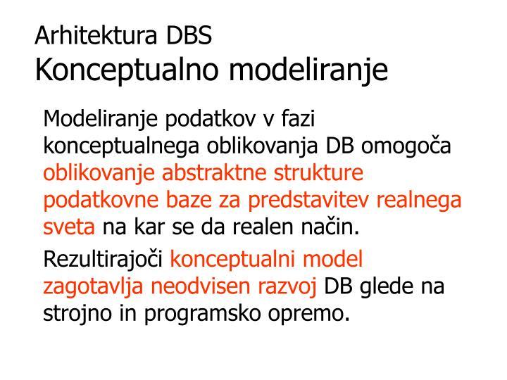 Arhitektura DBS