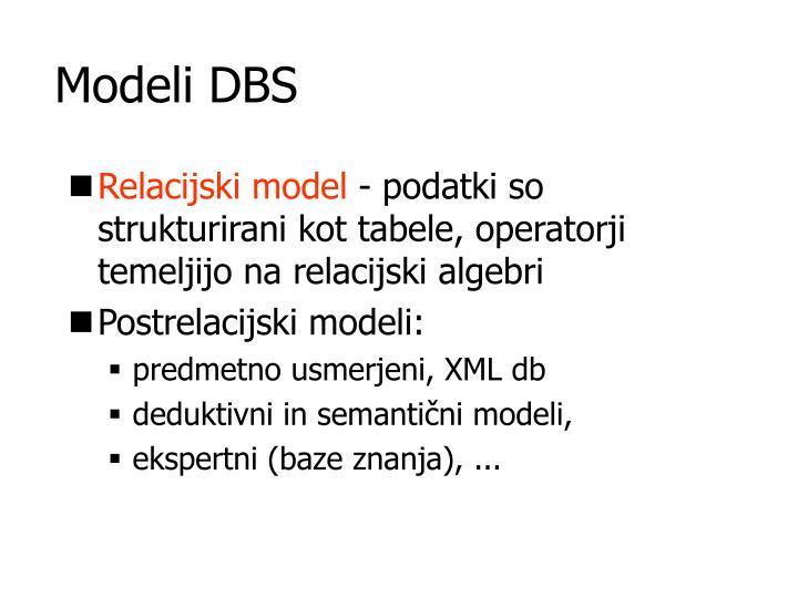 Modeli DBS