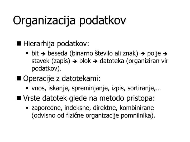 Organizacija podatkov