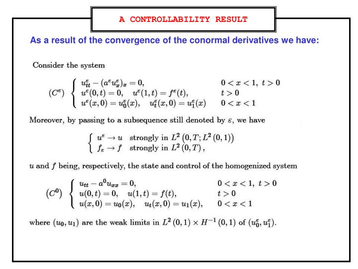 A CONTROLLABILITY RESULT
