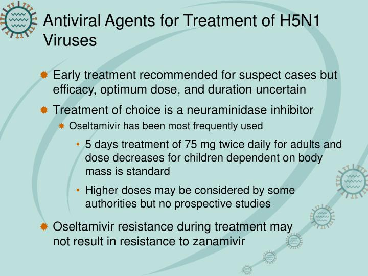 Antiviral Agents for Treatment of H5N1 Viruses