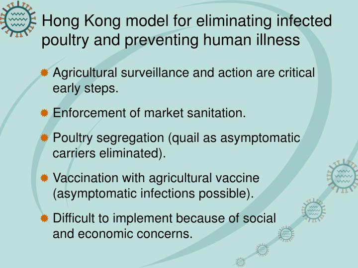 Hong Kong model for eliminating infected poultry and preventing human illness