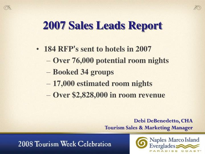 2007 Sales Leads Report